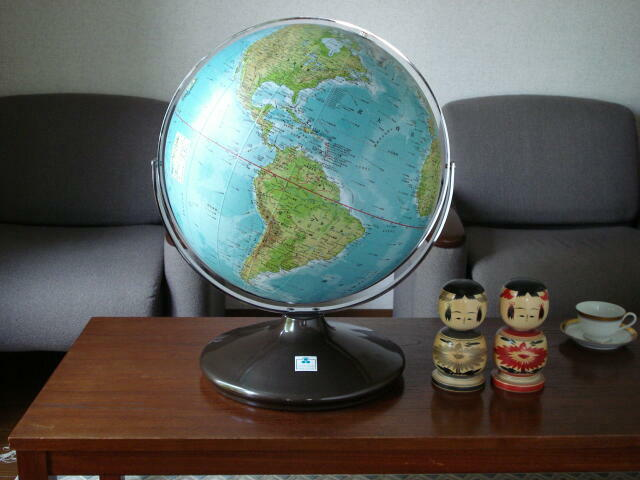 Gt steel baseglobe shop tokyo 45cm globe ball made letters easier to read with the meridian swinging up and down to all direction you can choose the map color between physical gumiabroncs Image collections
